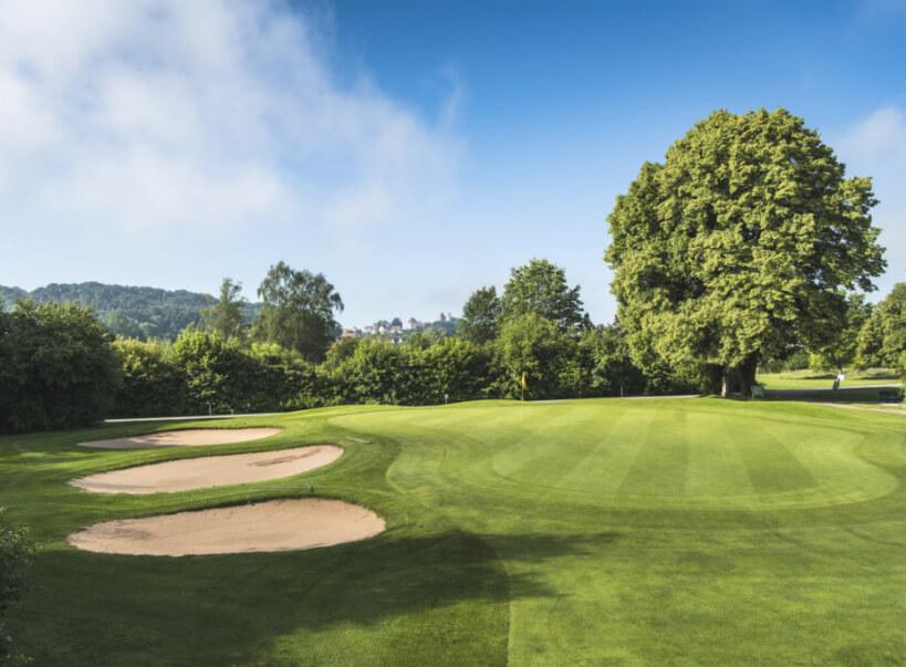 Golfplatz Abschlagzone Golfclub Abenberg
